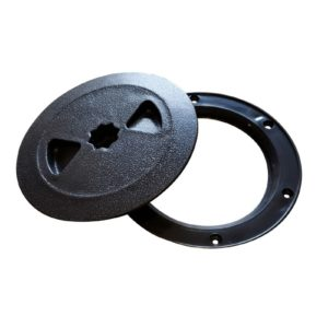 "4"" access and view port for sump pump lids"