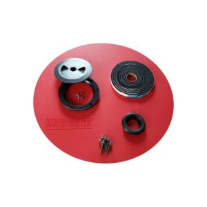 Sump pump lid kits for radon